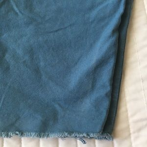 Volcom Shorts - Volcom twill frayed Bermuda shorts blue